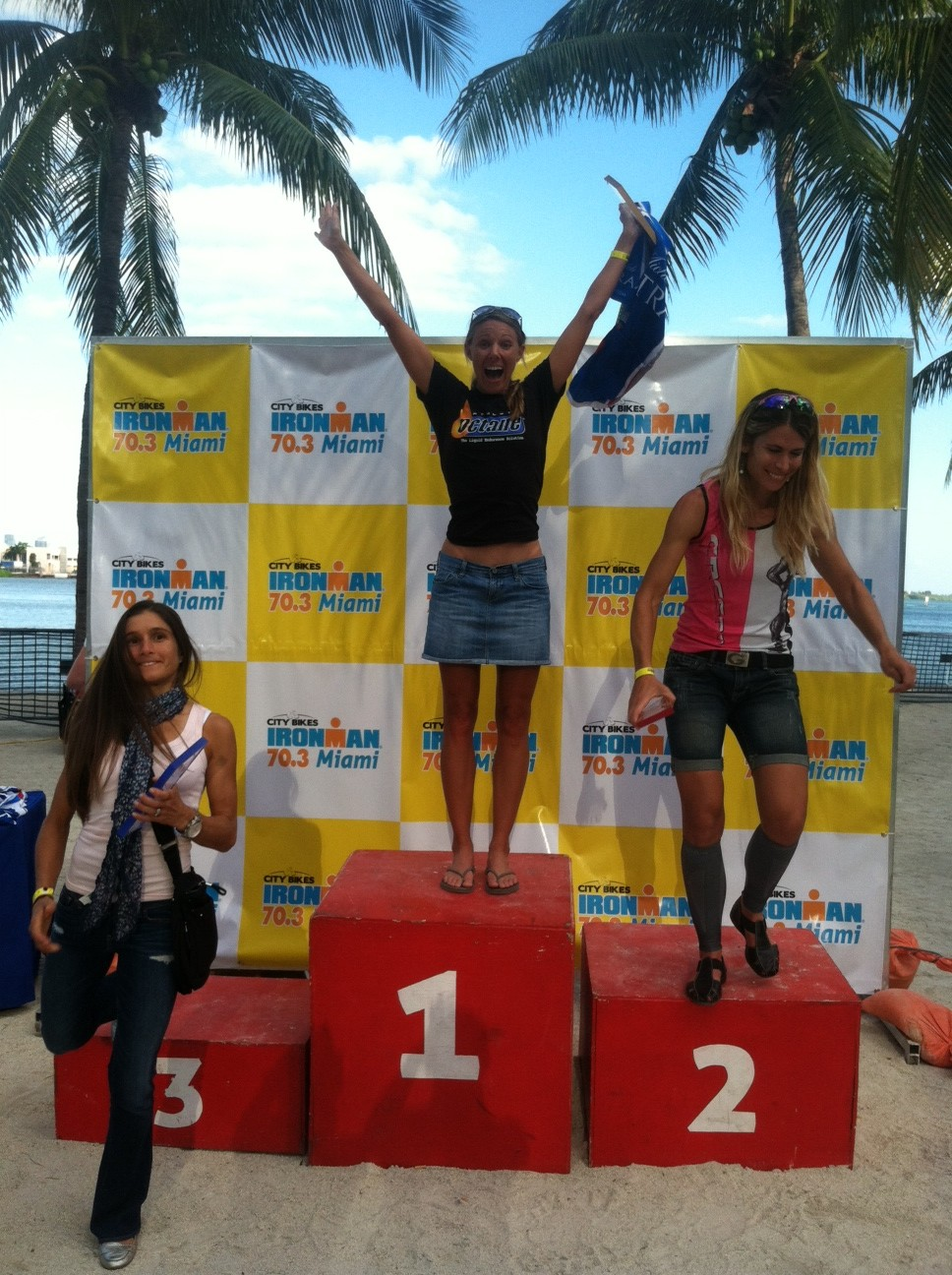 Sarah Lieneke Reports From The Podium (Miami 70.3)