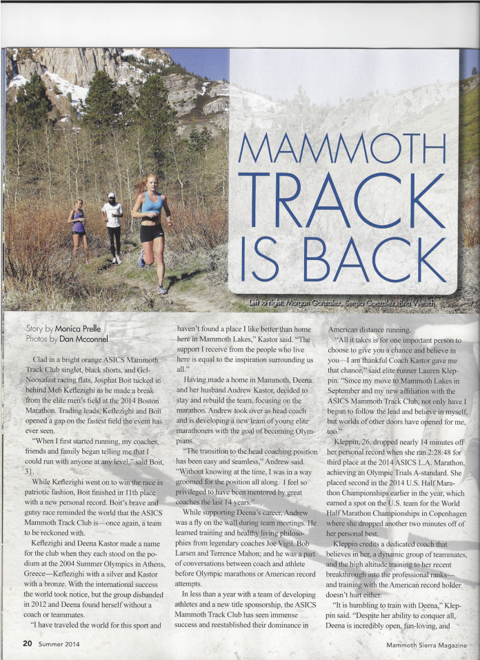 Mammoth Track is Back1