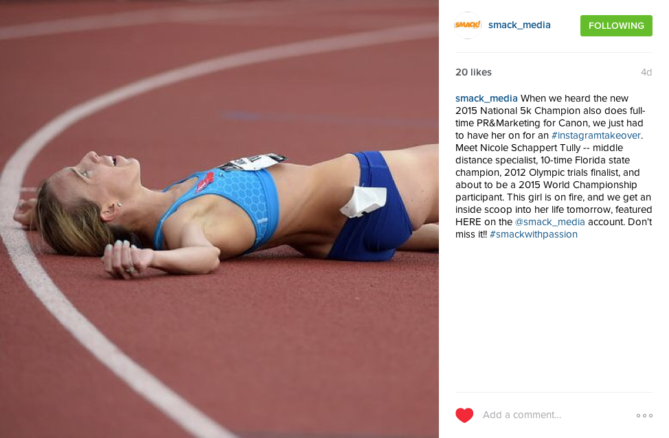 SMACK! Media Instagram Takeover: PR Pro And National Champion Nicole Tully