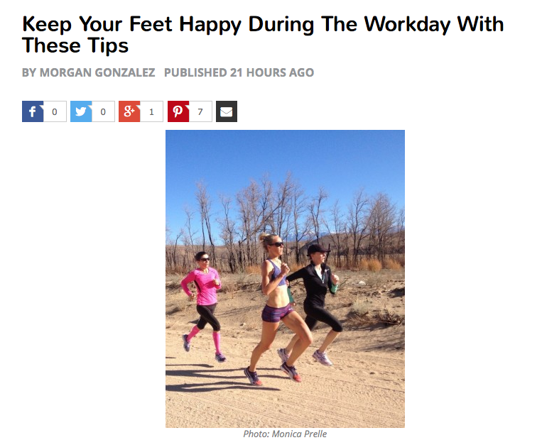 Keep Your Feet Happy During The Workday With These Tips (Women's Running)