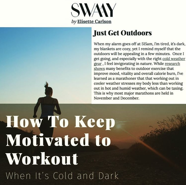Rule #1 For How To Motivate To Workout When It's Cold And Dark Outside…(Plus 6 More Tips)
